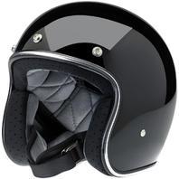 Biltwell Bonanza DOT 3/4 Gloss Black Motorcycle Riding Street Racing Helmet