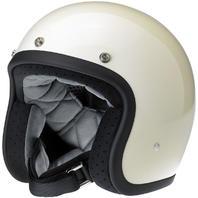 Biltwell Bonanza DOT White Open Face Motorcycle Riding Street Racing Helmet