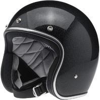 Biltwell Bonanza DOT Midnight Black Open Face Motorcycle Riding Street Helmet