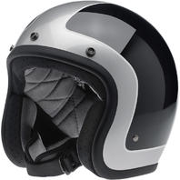 Biltwell Bonanza Black Sliver Open Face Motorcycle Riding Street Racing Helmet