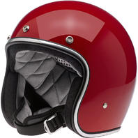 Biltwell Bonanza DOT Blood Red Open Face Motorcycle Riding Street Racing Helmet