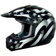 AFX American Flag Black FX17 Unisex Off road Motorcycle Riding Helmet Harley
