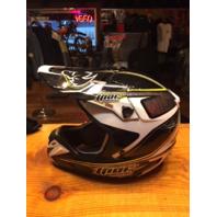 Thor Verge motorcycle motocross Dirtbike off-road black yellow white helmet xxl