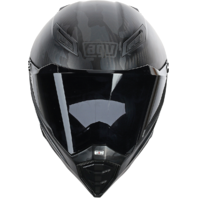 Agv Matte Black Fury Naked Motorcycle Riding Street Racing Full Face Helmet