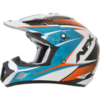 AFX Blue Orange White Unisex FX-17 DOT Motorcycle Off Road Riding Racing Helmet