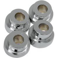 La Choppers Chrome 4 Pack Angled Riser Bushings 84-17 Harley Dyna Softail XL FXD