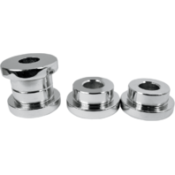 La Choppers Chrome Solid 4 Pack Riser Bushing Set 84-17 Harley Dyna Softail XL