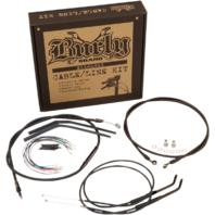"Burly 10"" Black Jail Bar Handlebar Hand Control Kit For 07-11 Harley Dyna FXDB"