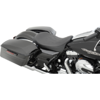 Drag Specialties Low Profile Flame Stitch Solo Seat 08-19 Harley FLHT FLTR FLHR