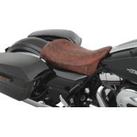 Drag Specialties Low Profile Faux Python Red Solo Seat 08-19 Harley Touring FL