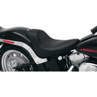 Drag Specialties Solo Faux Ostrich Vinyl Seat Harley 06-17 Softail FXST FXSTC