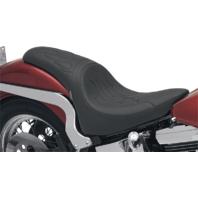 Drag Specialties Predator Flame Stitch Seat 84-99 Harley Softail FLST FLSTN FXST