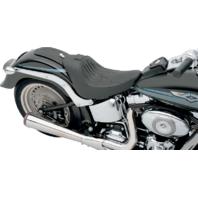 Drag Specialties Flame Stitch Seat EZ Glide Backrest System Harley 06-17 Softail