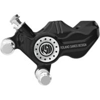 RSD Black Rear Brake Rotor Caliper For 08-17 Harley Touring V-Rod FLHX VRSCF