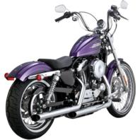 Python Slash Cut Slip On Chrome Exhaust Mufflers 14-19 Harley Sportster Loud