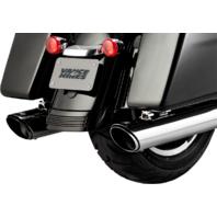 """Vance & Hines Twin Slash 4"""" Chrome Exhaust Mufflers 17-18 Harley Touring FLHX"""