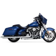 "Vance & Hines Chrome 4"" Turn down Slip on Mufflers For 17-18 Harley Touring FLHX"