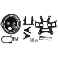 "JW Speaker Black LED 7"" Motorcycle Headlight Conversion Kit For 07-12 Ducati"