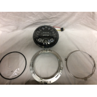 "JW Speaker Black 7"" Round Universal Motorcycle Adaptive LED Headlight for Harley"