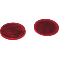 "Saddlemen Round Red 2.25"" Universal Motorcycle Saddlebag Reflectors"