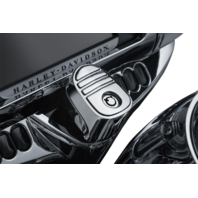 Kuryakyn 6984 Chrome Tri Line Ignition Switch Cover 14-19 Harley Touring FLHX