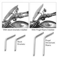 Pingel Polished Front Windshield Risers for 02-11 Harley Davidson V-Rod VRSCD