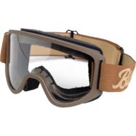 Biltwell Unisex Brown Sand Universal Motorcycle Moto 2.0 Street Helmet Goggles