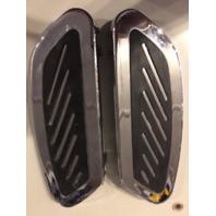 Vtwin Chrome Streamliner Driver Floorboard Set for 80-up Harley Touring FLST