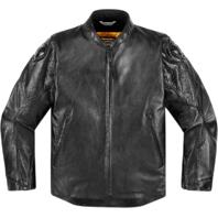 Mens Icon 1000 Black Leather Retrograde Motorcycle Riding Jacket Harley