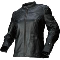 Womens Z1R black 234 leather motorcycle biker street jacket