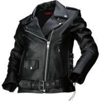 Womens Z1R black 9mm leather motorcycle biker street jacket