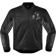 Mens Icon Black Textile Wireform Motorcycle Riding Street Racing Jacket Harley