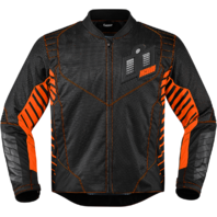 Mens Icon Orange Textile Wireform Motorcycle Riding Street Racing Jacket Harley
