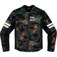 Mens Icon Camo Textile Oildale Conscript Motorcycle Riding Street Racing Jacket