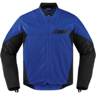 Mens Icon Blue Textile Stealth Konflict Motorcycle Riding Street Racing Jacket