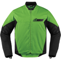 Mens Icon Green Textile Stealth Konflict Motorcycle Riding Street Racing Jacket