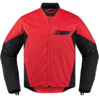 Mens Icon Red Textile Stealth Konflict Motorcycle Riding Street Racing Jacket