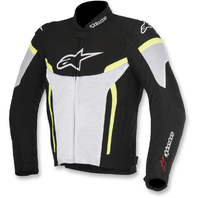 Mens Alpinestars Black Yellow White Textile T-GP Plus R Air V2 Motorcycle Jacket