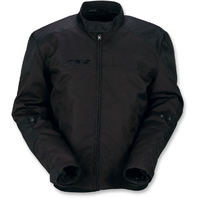 Mens Z1R Black Textile Zephyr Motorcycle Riding Street Racing Zipper Jacket