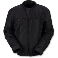Mens Z1R Black Solid Mesh Gust Motorcycle Riding Street Racing Zipper Jacket