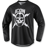 Mens Icon Black Sellout Long Sleeve Textile Motorcycle Riding Street Jersey