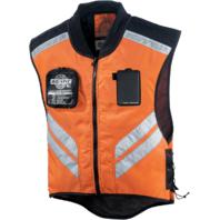 Icon Mens Orange Mil Spec Mesh Motorcycle Military Riding Reflective Vest Harley