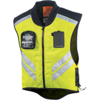 Icon Mens Yellow Mil Spec Mesh Motorcycle Military Riding Reflective Vest Harley