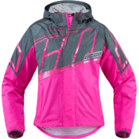 Womens Icon Pink Textile PDX 2 Motorcycle Riding Rain Jacket Harley Davidson