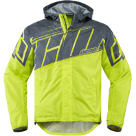 Mens Icon Yellow PDX 2 Textile Motorcycle Riding Waterproof Rain Street Jacket