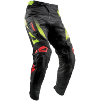 Thor Mens Fuse Rampant Black Green Red Off road Racing Dirt Bike Pants