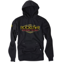 Mens Factory Effex Apparel Black Fleece Rockstar Vegas Hooded Sweatshirt