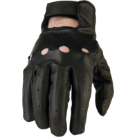 Mens Z1R 243 Black Leather Motorcycle Biker Street Glove