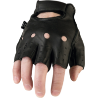 Mens Z1R 243 Half  Black Leather Motorcycle Biker Street Glove