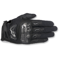 Mens Alpinestars Leather Black SMK-2 v2 Motorcycle Riding Street Racing Gloves